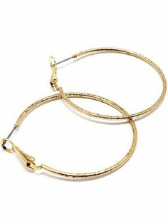 Style Tryst Medium Simple Hoop - Gold Style Tryst. $24.00