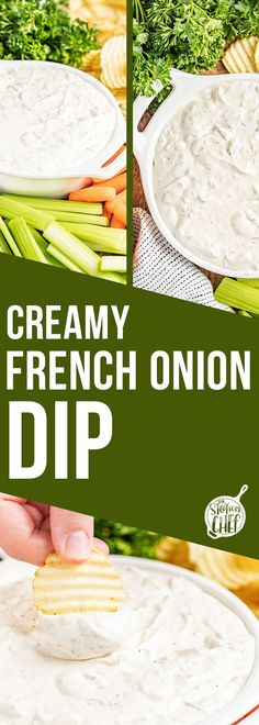 Creamy French Onion Dip is a classic party appetizer, traditionally served with crinkle cut potato chips. It is addictingly delicious, and only takes 10 minutes to prepare! Serve it up at your next event, or even just as a special treat for the family! Yummy Appetizers, Appetizers For Party, Appetizer Recipes, Bacon Wrapped Pineapple, French Onion Dip, Best Deviled Eggs, Bacon Jam, Home Chef, Brunch Recipes