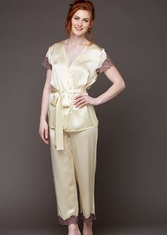 76dfa2e270 St. Barts Silk Wrap Pajama  Made from the most luxurious silk