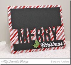 Merry Messages, Plaid Background Builder, Christmas Ornaments Die-namics, Merry Die-namics - Barbara Anders #mftstamps