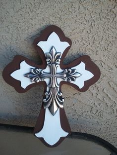 Hand Painted crosses by kraftychix on Etsy, $18.00
