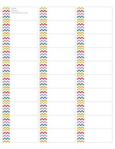 Download your FREE Multi Colored Chevron Address Labels! Compatible with Avery Return Address Label 5162. #chevronclassroom #freeprintables #printables #chevorn