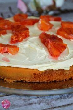 Mandarinen-Blutorangen-Poke Cake | SchokoladenFee