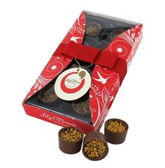Christmas Favourites - Passion Fruit Posset, 8 Chocolates available at LilyOBriens. Irish Chocolate, Chocolate Gifts, Christmas Chocolates, Online Gifts, Lily, Passion, Fruit, Orchids, Lilies