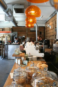 Panther Coffee | Miami. Love the light fixtures