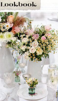 Brides Magazine Jan Feb 2015 Lookbook - fabulous 8 page feature with Zita Elze wedding flowers