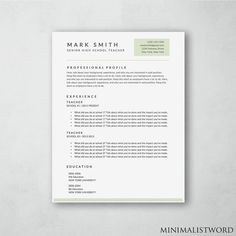 Resume Template Word With Gray Sidebar  Modern Resume Template