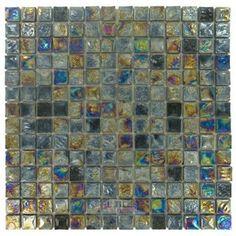 "Diamond Tech Tiles - Vista - 3/4"" x 3/4"" Square Glass Tile in Cocoon"