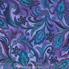 Bedfordshire - Peacock Paisley Purple Yardage - Jinny Beyer - RJR Fabrics