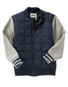 Quilted Varsity Jacket at Gymboree