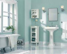 Merveilleux Behr Paint Color Ideas With Bathroom Wall Shelves