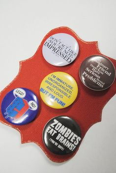 Funny Humorous LOL Pinback Button Badges by ChocRain on Etsy, $4.50
