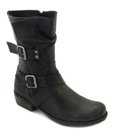 Black Kate Leather Boot #zulily #zulilyfinds