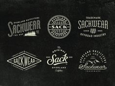 I had the privilege of creating some graphics for Sackwear's new site, which launched yesterday. These are a few lockups used on the home page's sliders.  Check it out here: http://www.sackwear.com...