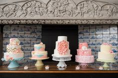 Can't decided on a wedding cake flavor or design?  This awesome cake display has it all!  Summer Wedding at Willowdale Estate(willowdaleestate.com) - Ned Jackson Photography Blog