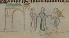 The Queen Mary Psalter 1310-1320 Royal MS 2 B VII  Folio 184v