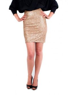 Rose Gold Sequin Skirt