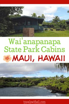 Wai'anapanapa State Park Cabins - Maui, Hawaii - Did you know that there is an affordable place to stay in Hana? Wai'anapanapa state park cabins are the perfect accommodations right in the state park in Hana, Hawaii. Hawaii Vacation Tips, Beach Vacations, Maui Travel, Usa Travel, Travel Ideas, Travel Tips, Travel Destinations, Affordable Family Vacations, State Park Cabins