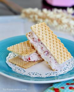 To Food with Love: Strawberry Ricotta Ice-cream Sandwich