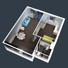 one bedroom house plans 3d - חיפוש ב-Google
