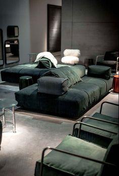 Sectional modular fabric sofa PANAMA BOLD by BAXTER design Paola Navone More