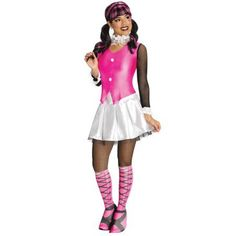 Adult Costumes - This womens Deluxe Draculaura Costume from Monster High includes the shirt with attached vest, skirt, leggings and also the boot tops. Costume Sexy, Queen Costume, Sexy Halloween Costumes, Halloween Fancy Dress, Costume Dress, Adult Costumes, Costumes For Women, Adult Halloween, Women Halloween