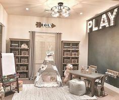 43 Impressive Basement Playroom For Kids Home By X Playroom Organization Basement Home Impressive Kids Playroom Loft Playroom, Playroom Organization, Playroom Design, Playroom Decor, Kids Decor, Boys Playroom Ideas, Small Playroom, Organizing, Decor Ideas