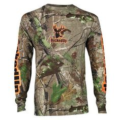 Bucked Up Longsleeve - Realtree APG Camo with Orange Logo [305785] | Redneck Outpost