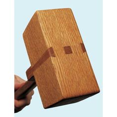 DIY Dovetail Puzzle Mallet Downloadable Plan - It's not only satisfying to make your own tools but these are a great item to gift as well.