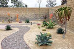Rock Pathway in Xeroscape Garden  landscape