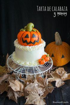Layer cake de calabaza y nueces. Pumpkin and nuts layer cake.