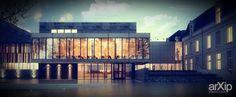 Glass House: архитектура, зd визуализация, 2 эт | 6м, модернизм, ресторан, кафе, бар, столовая, 200 - 300 м2, каркас - ж/б, здание, строение, фасад - керамогранит, архитектура #architecture #3dvisualization #2fl_6m #modernism #restaurant #cafe #bar #diningroom #200_300m2 #frame_ironconcrete #highrisebuilding #structure #facade_granite #architecture
