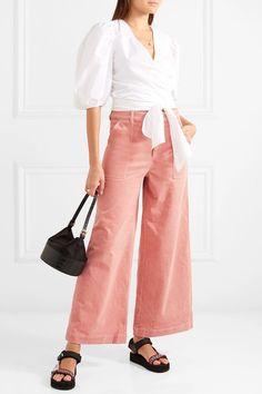 GANNI   Cotton-blend corduroy wide-leg pants   NET-A-PORTER.COM