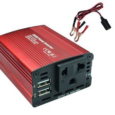 200W Car/Home Inverter Converter Adapter //Price: $59.14 & FREE Shipping //     Sale Depot http://saledepot.biz/product/new-200w-auto-carhome-inverter-converter-adapter-12v-to-220v-charger-two-usb-with-alligator-clips-cable/    #discount