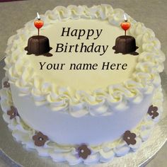 Stylish Birthday Cake Editing Online With Name Photo Happy