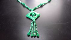 "green jade necklace, 26""; natural Jade6"