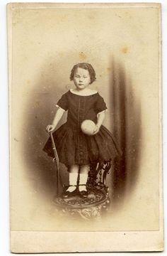 Child with Rifle Ball Antique CDV Photo by J Henderson Edinburgh Scotland   eBay