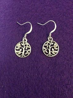 Silver Tree of Life Dangle Earrings by CraftyOlBats on Etsy
