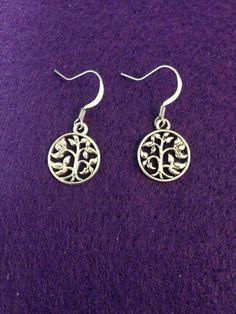 Silver Tree of Life Dangle Earrings by CraftyOlBats on Etsy