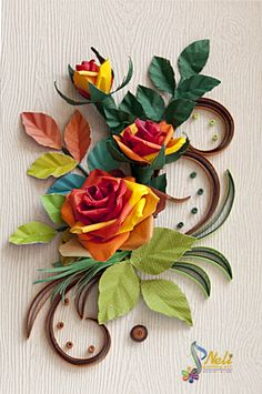 Neli is a talented quilling artist from Bulgaria. Her unique quilling cards bring joy to people around the world. Quilling Work, Neli Quilling, Origami And Quilling, Quilling Paper Craft, Quilling Flowers, Paper Flowers, Paper Crafts, Paper Quilling Tutorial, Paper Quilling Patterns
