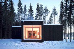 ♦ Avanto architects, une cabane chaleureuse en forêt ♦ http://banaba.fr/avanto-architects-maison-face-foret/