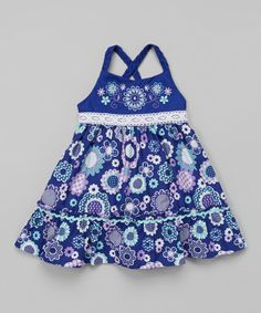 Loving this Purple Floral Babydoll Dress - Infant on #zulily! #zulilyfinds