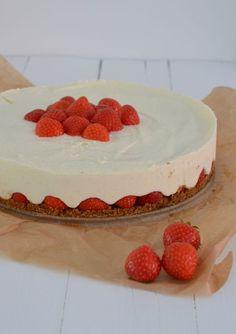 aardbeien-mascarponetaart #nobakecheesecake
