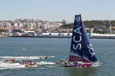 May 27, 2015. Leg 7 arrivals in Lisbon; Team SCA Ainhoa Sanchez / Volvo Ocean Race