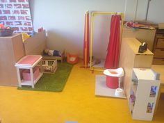 De badkamer  en babykamer