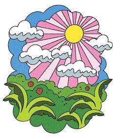 lantru     ⛅ . . . #sun #sunset #sunrise #clouds #plants #sky #illustration #illo #lantruong