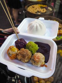 Pork dim sum from Jalan Alor street food market in Kuala Lumpur