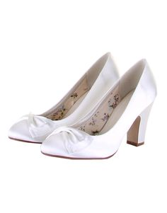 4519f741d8c Dinah is a beautifully styled retro wedding court shoe with an 8.5cm block  heel and