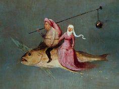 uitsnede van het Antonius-drieluik ~ Hieronymus Bosch