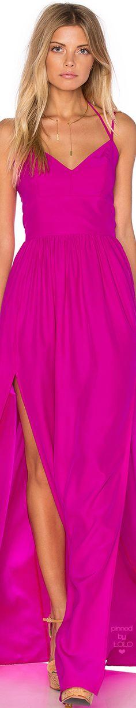 AMANDA UPRICHARD Rio Maxi Dress Hot Pink | LOLO❤︎